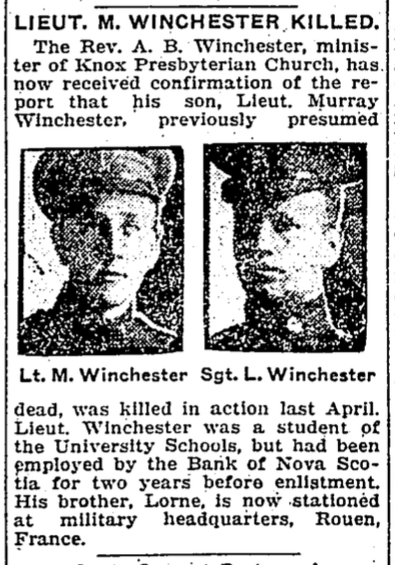 Photo of MURRAY MCKAY WINCHESTER– From the Toronto Star.  Submitted for the project, Operation: Picture Me