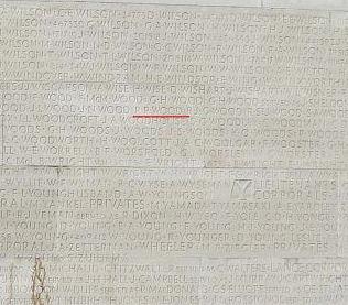 Inscription– Panel Wilmot - Zuidema, Vimy Memorial
