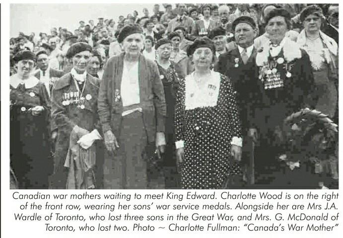 Photograph– Canadian war mothers