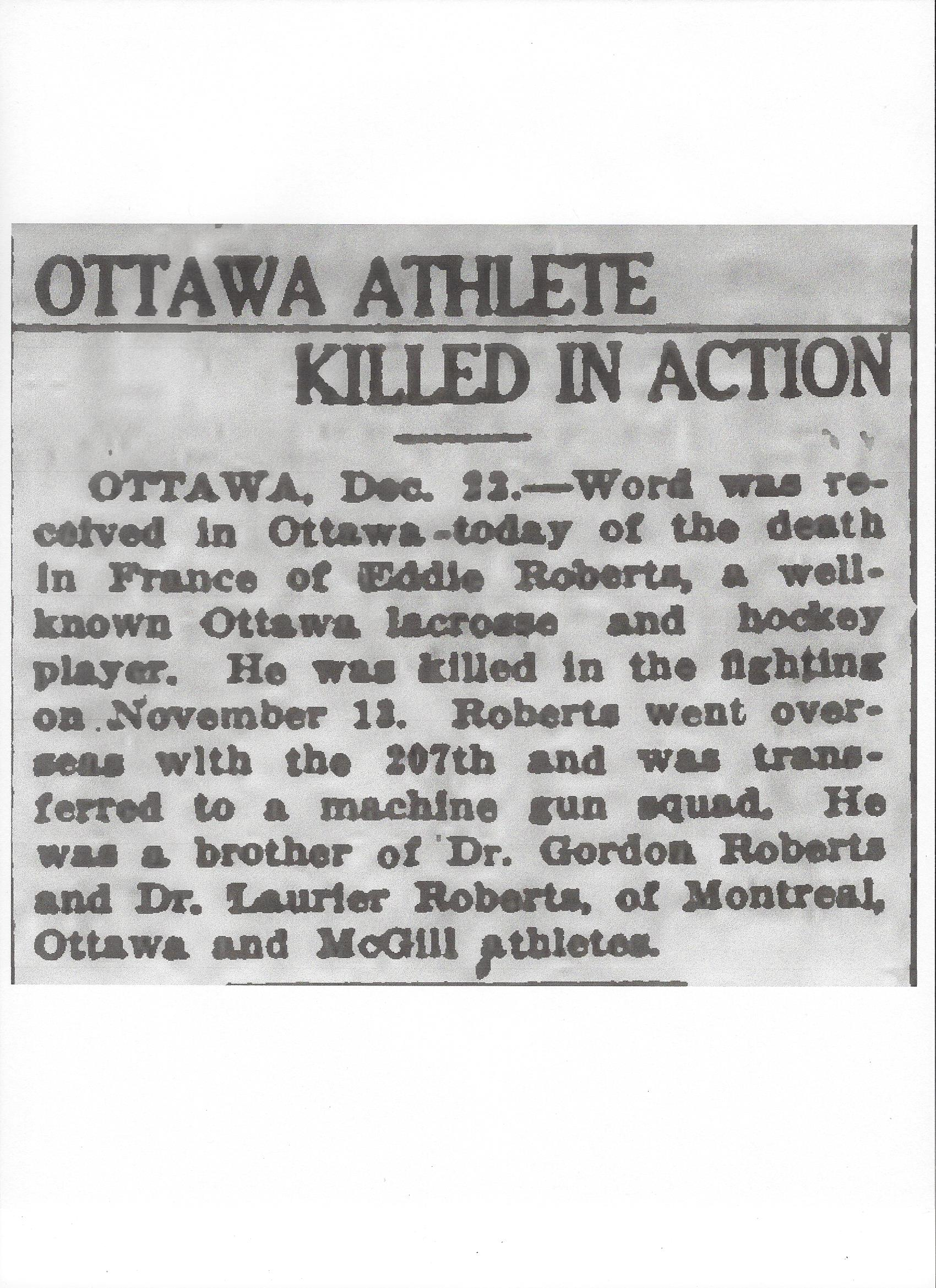 Newspaper Clipping– Newspaper clipping from the Daily Colonist of December 23, 1917. Image taken from web address of http://archive.org/stream/dailycolonist59by326uvic#page/n0/mode/1up