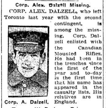 Newspaper Clipping– From the Toronto Star. Submitted for the project, Operation: Picture Me.