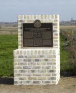 Memorial– One of two memorial plaques dedicated on 24 April 2010 to commemorate those members of the 15th Battalion (48th Highlanders of Canada) who fell during the 2nd Battle of Ypres 22-26 April 1915.  This memorial is located on Gravenstafel Ridge.  DILEAS GU BRATH