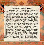 Newspaper Clipping– Pte. John Melville Davey was named on the Roll of Honour for Mimico Lodge (Masonic), Lambton Mills, Ontario.  Davey was born in Peterborough, Ontario.  He enlisted in September 1914 at Valcartier, Quebec, in the first Canadian Contingent.  In honoured memory.