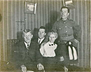 Family Photo– L to R William, Norman, Emma and Harold Davis. Submitted for the project Operation Picture Me