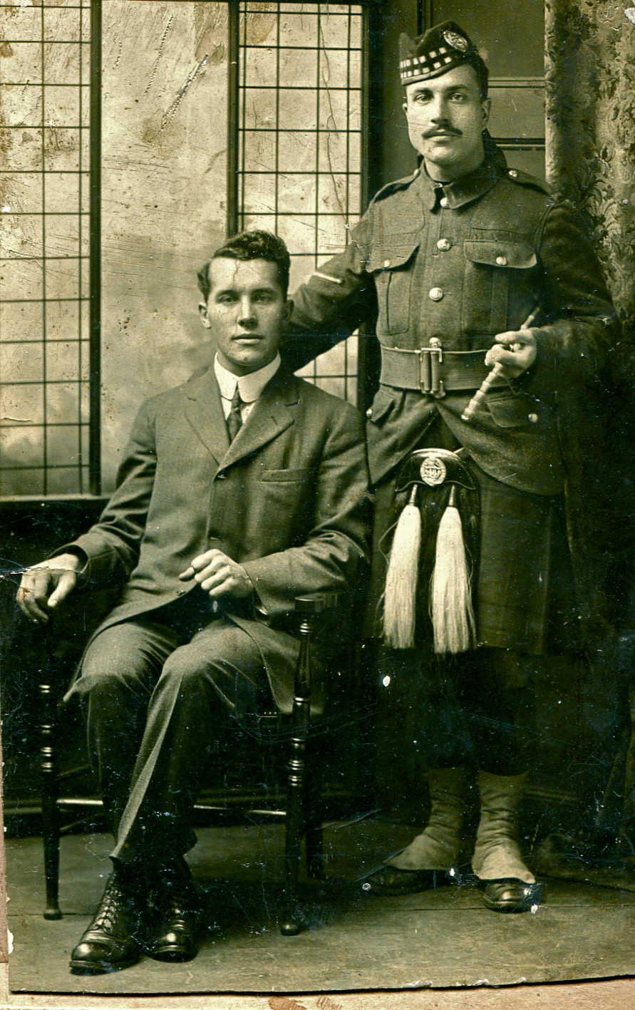 Group Photo– L to R Norman and Harold Davis. Submitted for the project, Operation Picture Me