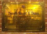 Memorial Plaque– Corporal Harold Vincent V. Davis' memorial plaque is on display inside the 48th Highlanders Museum in Toronto, Ontario.