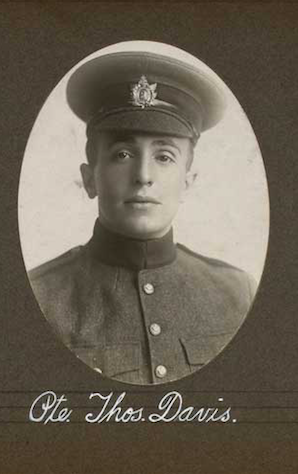 Photo of THOMAS MELVILLE DAVIS– In memory of the employees of the T. Eaton Company that went to war and did not come home.  Submitted for the project, Operation: Picture Me