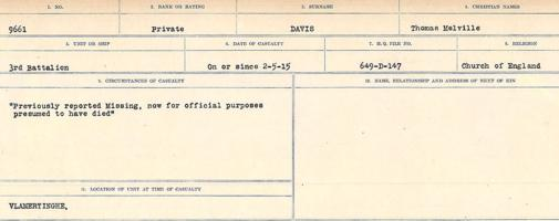 Circumstances of death registers– Source: Library and Archives Canada. CIRCUMSTANCES OF DEATH REGISTERS, FIRST WORLD WAR. Surnames: Dack to Dabate. Microform Sequence 26; Volume Number 31829_B016735. Reference RG150, 1992-93/314, 170. Page 1083 of 1140.