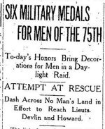 Newspaper Clipping– First part of a clipping from the Toronto Daily Star for 23 October 1916, page 1.