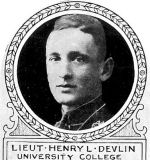 Photo of Henry Lyman Devlin– From: The Varsity Magazine Supplement published by The Students Administrative Council, University of Toronto 1918.  