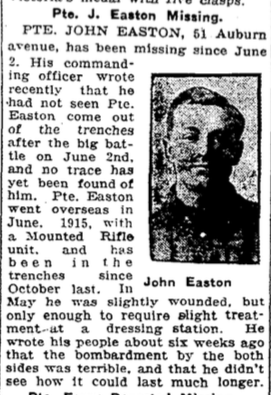 Photo of JOHN EASTON– From the Toronto Star. Submitted for the project, Operation: Picture Me
