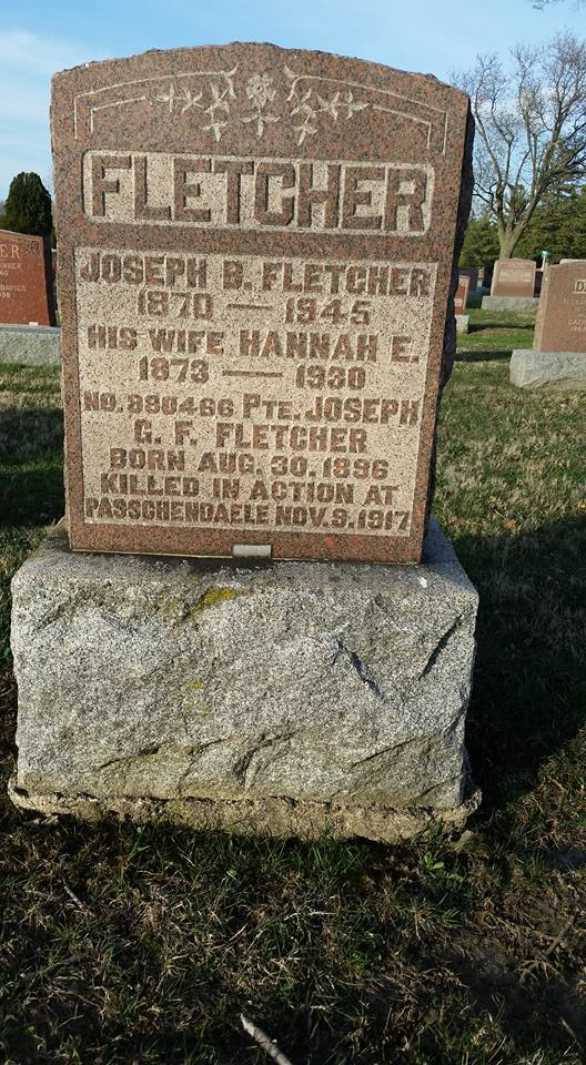 Family Memorial– Family grave which Joseph is mentioned - Maple Leaf Cemetery, Chatham, ON