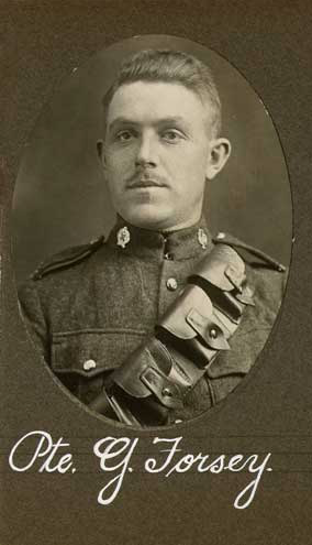 Photo of GEORGE EDWARD FORSEY– In memory of the employees of the T. Eaton Company that went to war and did not come home.  Submitted for the project, Operation: Picture Me