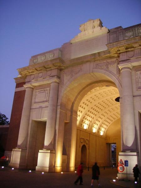 Menin Gate Memorial– August 2012 … photo courtesy of Marg Liessens