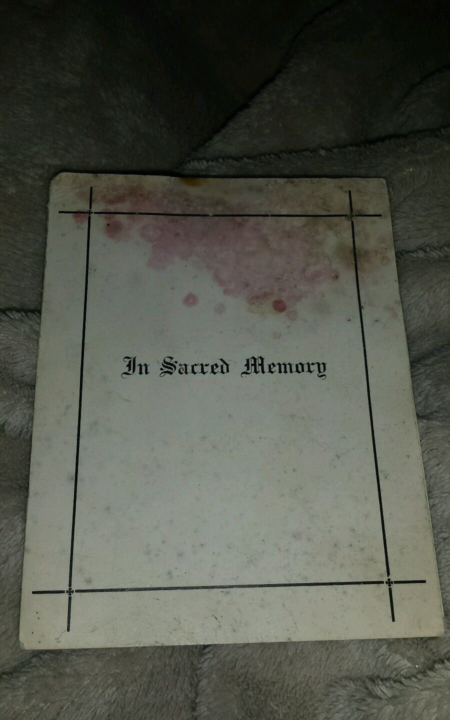 In Sacred Memory– Submitted for the project, Operation Picture Me