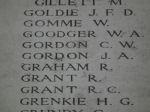 Inscription– Inscription on the Menin Gate, Ypres, Belgium Photo courtesy of J. Elliott/J. Rutledge, The Men of Huron WW1 Project