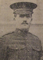 Photo of William Gourley– Private William Gourley (463279) Source: Belfast  Evening Telegraph, 04-06-1917