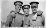 Photo of Harry Guest– Undated photograph of Ptes. Harry Guest (left), Cecil Swan (middle) and Earnest Hunter (right). This image was in a photo album largely comprised of images (unfortunately mostly unidentified) of soldiers, girlfriends and other civilians taken while training in New Brunswick. This image was therefore most likely taken sometime during the summer or early fall of 1915 prior to deployment overseas. Harry Guest was killed on 10 June 1916 in defense of the Ypres Salient. He has no known grave. Source: Tim Patterson from collection of Ellis Craig, Ottawa.