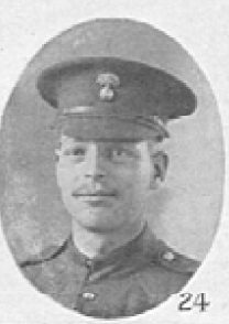 Photo of George Harris– In memory of the men who served with the 87th Battalion CEF. Submitted for the project, Operation: Picture Me  Footer