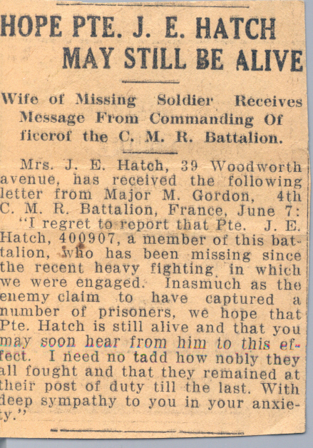 Press clipping 2 - Missing