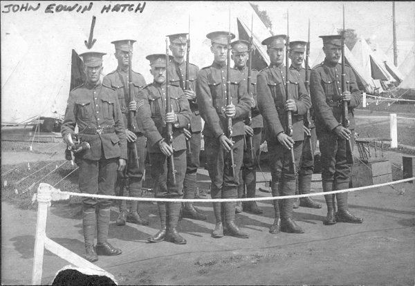 John Hatch and his comrades