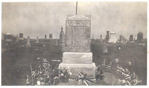 Bayham Memorial, Richmond Cemetery