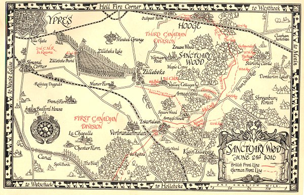 Map of Sanctuary Wood