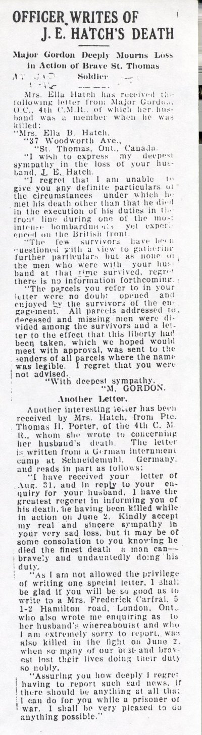 Press clipping - Letters