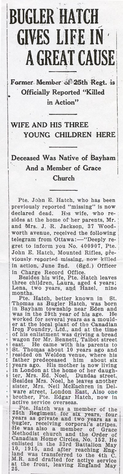 Press clipping 2 - Killed in Action