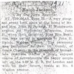 Press clipping - Marriage announcement