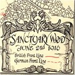 Map of Sanctuary Wood– Extract from The 4th Canadian Mounted Rifles 1914-1919 by Captain S. G. Bennett, M.C. published by the Murray Printing Company, Toronto, 1926.