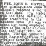 Press clipping - Killed in Action