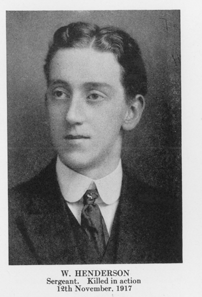 """Photo of William Henderson– From the book """"Letters From The Front 1914-1919"""" published by The Canadian Bank of Commerce."""