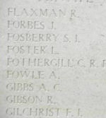 Inscription– Menin Gate panel where Private Herbert Hopley is commemorated.  Photo by BGen Young (ret) and submitted by Capt (ret) V Goldman of the 15th Bn Memorial Project.  DILEAS GU BRATH