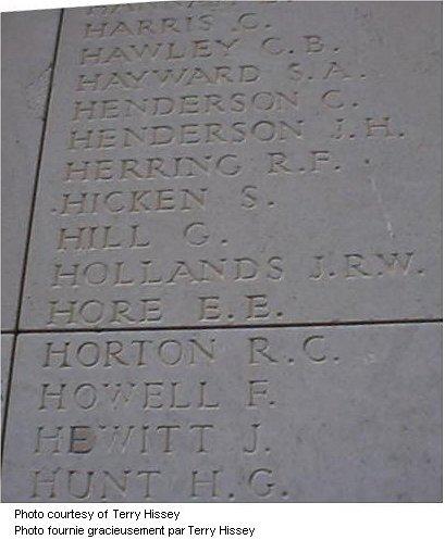 Menin Gate (Ypres) Memorial, Panel