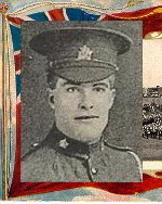 """Photo of George Howell– Caption (pg. 382):  Men of Peel Killed During the Great War.  Author - William Perkins Bull. """"From Brock to Currie: the military development and exploits of Canadians in general and of the men of Peel in particular, 1791 to 1930.""""  Toronto, 1935."""