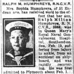 Newspaper Clipping– Pte. Albert Edward Humphreys is mentioned in this article about his brother.   Pte. Humphreys worked as a newspaper reporter at the Toronto Evening Telegram.