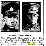 """Newspaper Clipping– Toronto Star """"Pages of the Past"""" online 1915 May 6"""