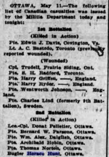 Newspaper Clipping– Daily Colonists, Victoria B.C.