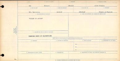 Circumstances of death registers– Private Allen Grannis Ingalls