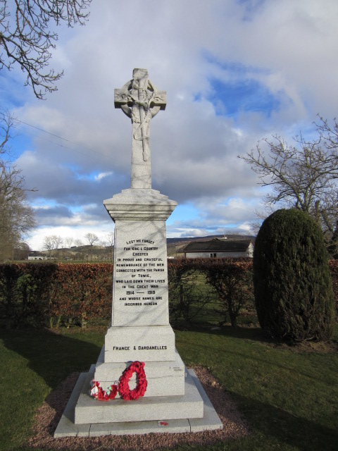 Memorial– The War Memorial at Towie, Aberdeenshire, Scotland. Image taken 29 March 2015 by Tom Tulloch.