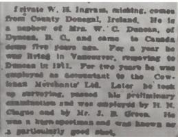 Newspaper clipping– From the Daily Colonist of May 21, 1915. Image taken from web address of https://archive.org/stream/dailycolonist57y139uvic#mode/1up