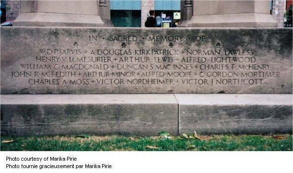 St. James Catherdral War Memorial Panel