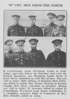 Photo of RICHARD JEFFERSON– From the Loyal Edmonton Regimental magazine the Fortyniner.  Submitted for the project, Operation Picture Me