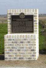 Plaque– One of two memorial plaques dedicated on 24 April 2010 to commemorate those members of the 15th Battalion (48th Highlanders of Canada) who fell during the 2nd Battle of Ypres 22-26 April 1915.  This memorial is located on Gravenstafel Ridge.  DILEAS GU BRATH