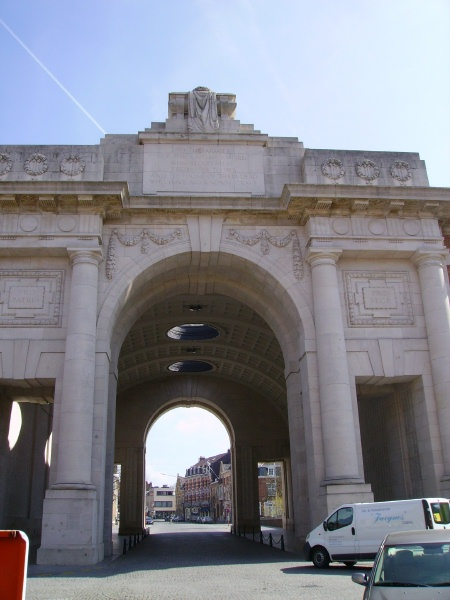 Menin Gate (Ypres) Memorial– Photo courtesy of Marg Liessens