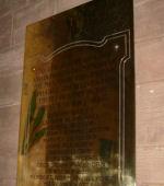 Memorial– Memorial plaque in Thurlstone Church, South Yorkshire, United Kingdom.