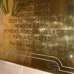 Inscription– Memorial plaque in Thurlstone Church, South Yorkshire, United Kingdom.
