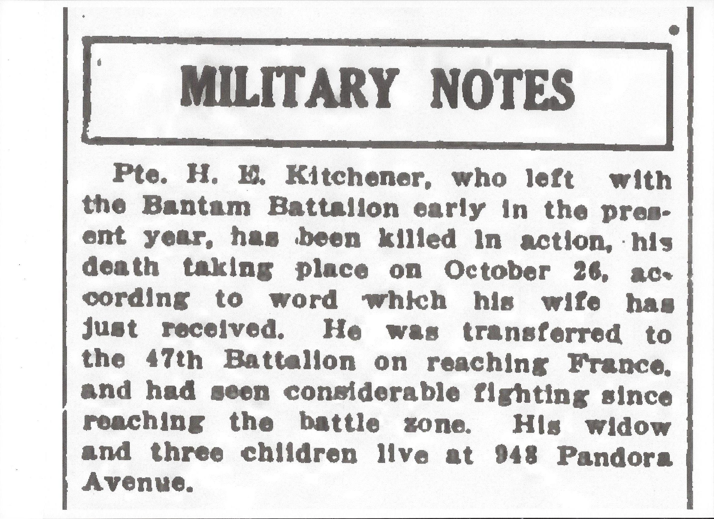 Newspaper Clipping– Newspaper clipping from the Daily Colonist of November 23, 1917. Image taken from web address of http://archive.org/stream/dailycolonist59y300uvic#page/n0/mode/1up