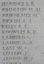 Inscription– Menin Gate panel where Private Robert Knowles is commemorated.  Photo by BGen Young (ret) and submitted by Capt (ret) V Goldman of the 15th Bn Memorial Project.  DILEAS GU BRATH